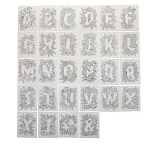 Crafter's Companion 28-piece Alphabet Clear Stamps