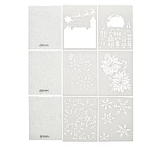 Crafter's Companion 3D Embossing Folders & Stencils - Christmas Cheer