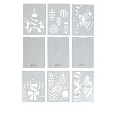 Crafter's Companion 3D Embossing Folders & Stencils - Deck the Halls