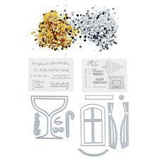 Crafter's Companion Christmas Cheer Shaker Card Kit
