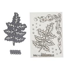 Crafter's Companion Christmas Stamps & Dies - Hollyberry