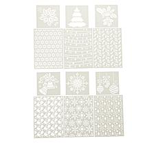 Crafter's Companion Christmas Stencils Set of 6