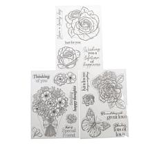 Crafter's Companion Delicate Florals Set of 3 Stamps