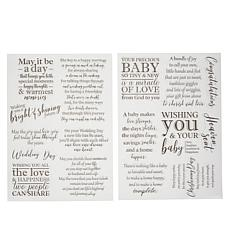 Crafter's Companion Designer Verse Occasion Stamps