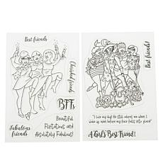 Crafter's Companion Fabulous Friends Best of Friends Stamps