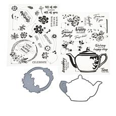 Crafter's Companion Floral Layering Stamps and Die Set