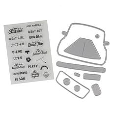 Crafter's Companion Gemini Car-Shaped Base Stamp and Die Set
