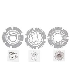 Crafter's Companion Gemini Lots of Love Circular Stamp and Die Sets