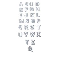 Crafter's Companion Gemini Shadow Alphabet Die Set