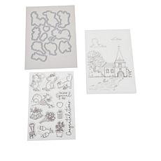 """Crafter's Companion Lee Holland """"Wedding"""" Stamps & Dies Set"""