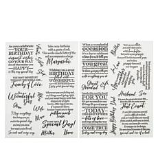 Crafter's Companion Male and Female Verse Stamps