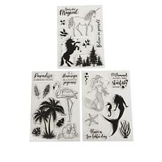 Crafter's Companion Mystical Stamps 3-pack