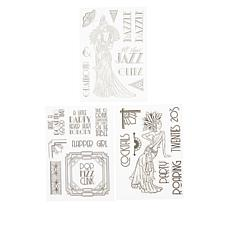 Crafter's Companion Roaring 20's Stamp Sets