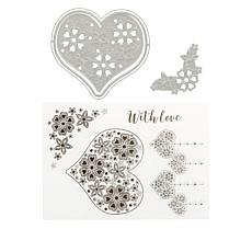 Crafter's Companion Romance Chloe Stamp and Die Kit