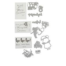 Crafter's Companion Santa's Grotto Stamp and Die Set