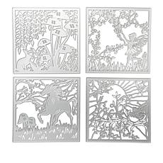 "Crafter's Companion Sara Davies Enchanted Forest 4""x4"" Panel Dies"