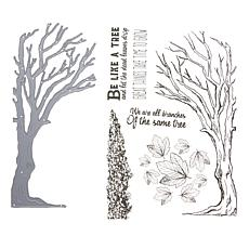 Crafter's Companion Sheena Perfect Partners Tree Stamp and Die Set