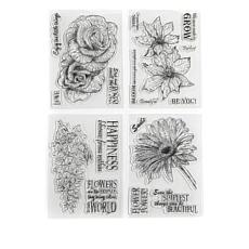Crafter's Companion Sheena Stamps 4-pack - Garden Floral