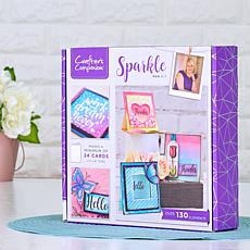 Crafter's Companion Sparkle Pens Box with Stamps and Cards