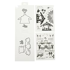 Crafter's Companion Traditional Christmas Layered Stamp and Die Set