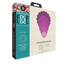 Crafter's Edge Scalloped Circles 5-piece Quilting Die Set