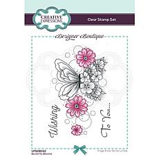 Creative Expressions Boutique Collection Butterfly Blooms A6 Stamp