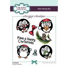 Creative Expressions Designer Boutique Penguin Baubles A6 Stamp Set