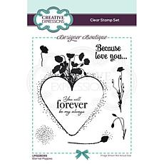 Creative Expressions Designer Collection A6 Stamp Set - Poppies