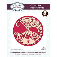 Creative Expressions Paper Panda Nocturnal Badgers Craft Die