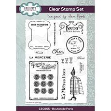 Creative Expressions Sam Poole Bouton de Paris A5 Clear Stamp Set