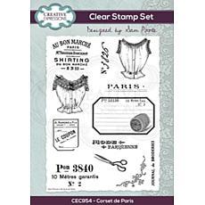 Creative Expressions Sam Poole Corset de Paris A5 Clear Stamp Set