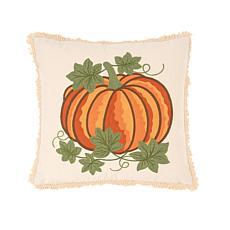 Crewelwork Pumpkin Pillow