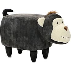 "Critter Sitters 14"" Plush Animal Ottoman - Monkey"