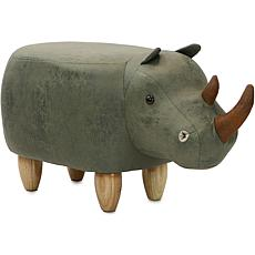 "Critter Sitters 14"" Plush Animal Ottoman - Rhinoceros"