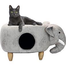 "Critter Sitters 16"" Plush Animal Pet House Ottoman - Elephant"