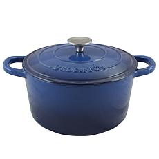 Crock Pot Zesty Flavors 5 Quart Round Enameled Cast Iron Dutch Oven...