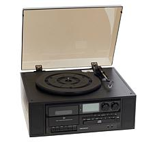 Crosley 3-Speed Ridgemont Turntable with Radio, CD & Cassette Player