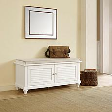 Crosley Furniture Palmetto Entryway Bench - White