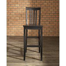 "Crosley Furniture School House 2-piece 30"" Bar Stool Set - Black"
