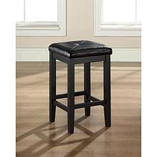 "Crosley Furniture Upholstered Square Seat 2pc 24"" Bar Stool Set-Black"