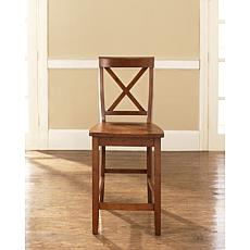 "Crosley Furniture X-Back 2-piece 24"" Bar Stool Set - Cherry"