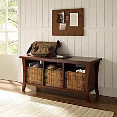 Crosley Wallis Entryway Storage Bench - Mahogany