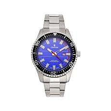 Croton Men's Blue Dial Rotating Bezel Dive Watch
