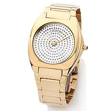 Croton Unisex Goldtone Textured Dial Watch