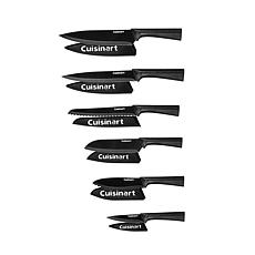 Cuisinart 12-Piece Metallic Knife Set with Blade Guards - Black
