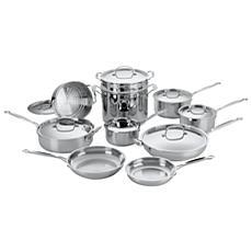 Cuisinart 77-17 Chefs Classic Stainless 17-Piece Cookware Set