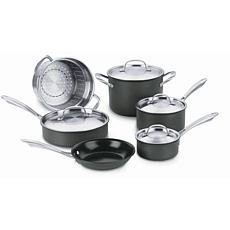 Cuisinart GreenGourmet Hard Anodized 10-piece Cookware Set