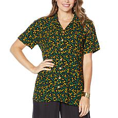 Curations Button-Front Camp Shirt