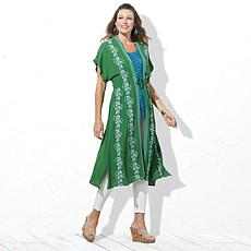 Curations Embroidered Gauze Kaftan
