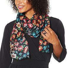 Curations Floral-Print Oblong Scarf